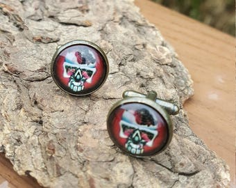 Skull and Spider Cuff Links