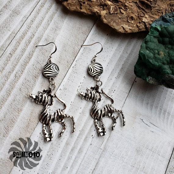Tribal Stripes Zebra Earrings