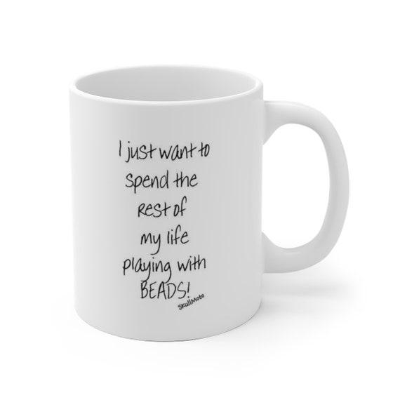 Play with Beads - White Ceramic Mug