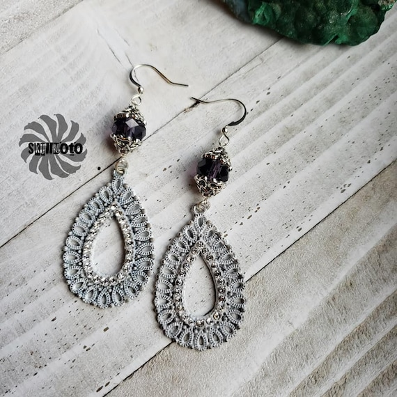 Crystal Filigree Earrings with Rhinestones