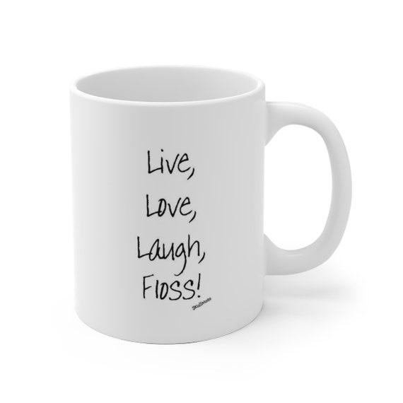Floss - White Ceramic Mug