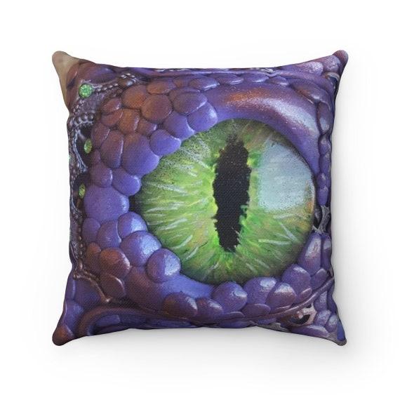 Purple Dragon - Spun Polyester Square Pillow