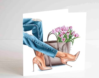 Jet Black Heels Canvas Art Print by Elza Fouche | iCanvas