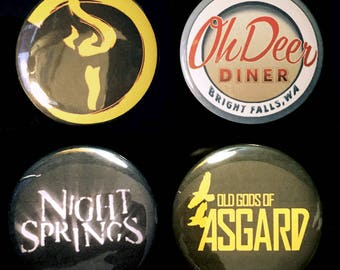 Alan Wake Set of Buttons, Magnets, or Stickers