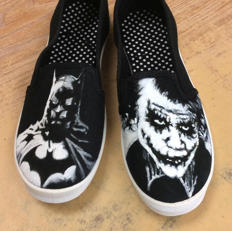 fb7f980a35ee20 Hand painted Batman Joker Shoes