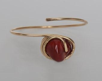 Jasper Brass Bracelet