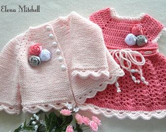 fc27e9359 Crochet bebé vestido Crochet Baby Cardigan de punto bebé niña