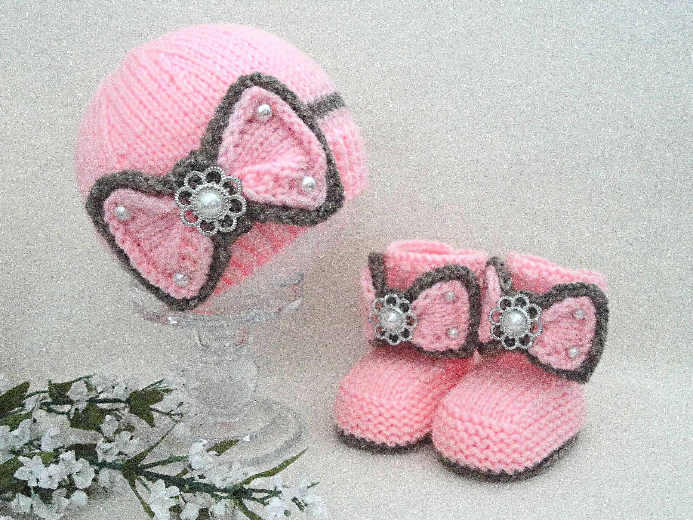 chapeau b b fille tricot bonnet b b chaussures b b etsy. Black Bedroom Furniture Sets. Home Design Ideas