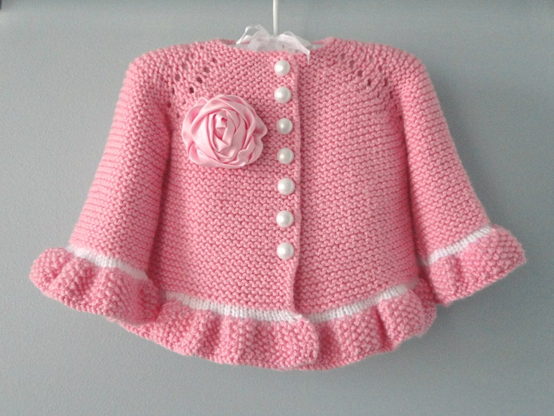 bce89806dc44 Baby Jacket Crochet Baby Cardigan Knitted Baby Girl Sweater