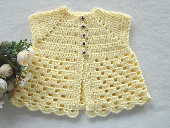 Baby Jacket Crochet Baby Cardigan Knitted Baby Girl Sweater Etsy