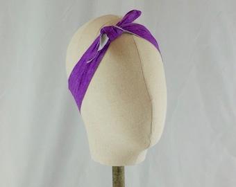 Purple and Gray 4-Way Reversible Headband