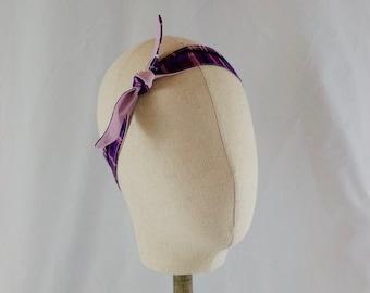 Retro Purple-Pink 4-Way Reversible Headband