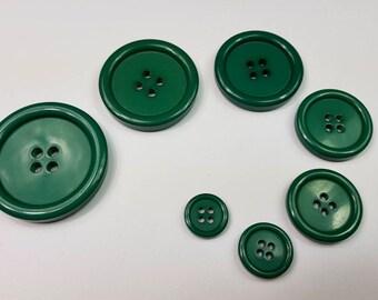 Button 4 Hole Green