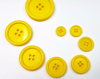 Button 4 Hole Yellow