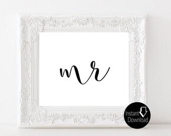 Mr Printable Wedding Sign   Wedding Reception Sign   Bridal Shower Sign   Printable Sign   8x10