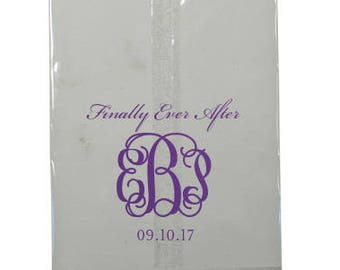 Happily Ever After - Personalized Clear Favor Bags   Wedding Favor Bag, Dessert Bar, Donut Bar, Hotel Welcome Bag