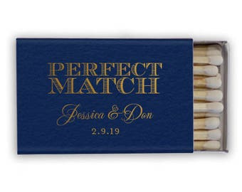 Perfect Match Personalized Matchbook Favors, Custom Wedding Matches, Personalized Sparkler Matches, Custom Printed Matches
