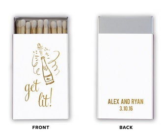 Get Lit  Personalized Wedding Favor Matchbooks - Wedding Favor - Wedding Matches - Custom Favor - Personalized Favor