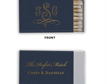 The Perfect Match Personalized Matchbooks