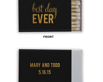 Best Day Ever Personalized Matchbooks