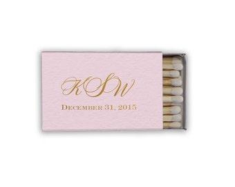 Monogrammed - Personalized Wedding Favor Matchbooks