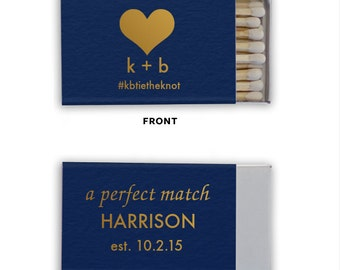 A Perfect Match Hashtag Personalized Matchbooks