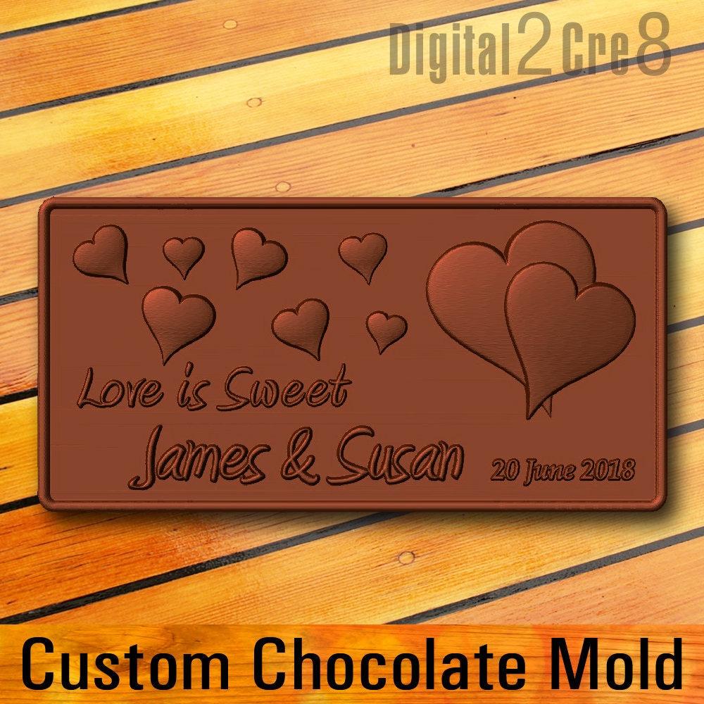 Custom Chocolate Mold Personalized Custom Logo Silicone Mold
