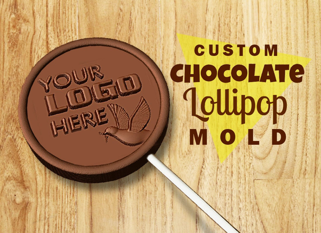 Custom chocolate mold - LOLLIPOP MOLD - personalized mold - custom ...