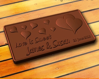 Custom chocolate mold - personalized custom logo silicone mold - valentine day gift, wedding gift, anniversary gift