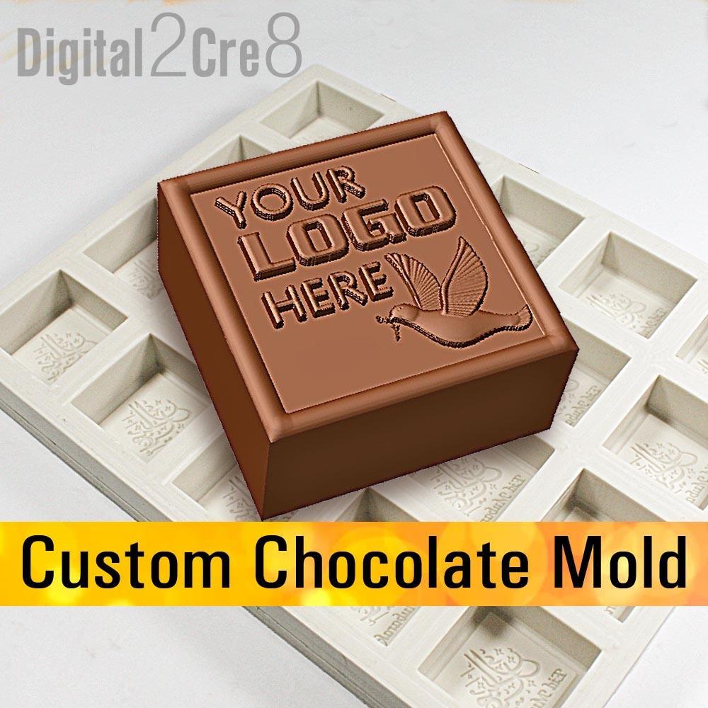 Custom logo chocolate mold - Personalized silicone mold