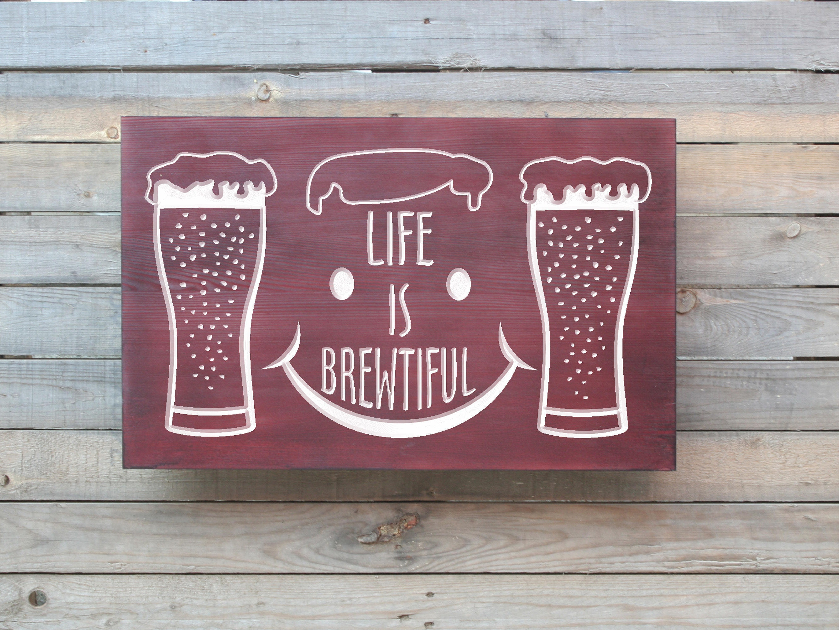 Beer Gift - Beer Sign - Gift for Boyfriend - Christmas Gift - Life ...