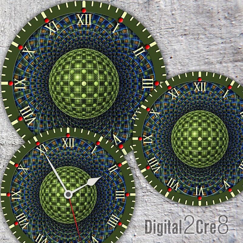 Large Clock Face 12 And 8 Digital Downloads Diy Printable