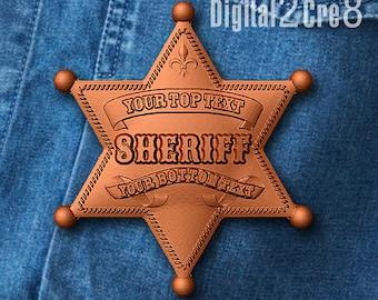 Chocolate mold customizable Sheriff star shaped  - personalized custom logo silicone mold