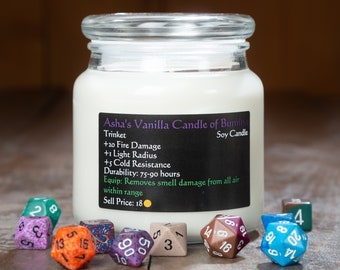 Rpg candle | Etsy