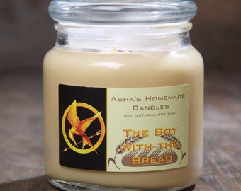 Hunger Games Boy with the Bread Soy Candle | 16 oz. | All Natural Soy Wax | Gift Idea