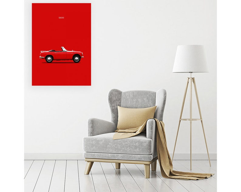 Print on canvas on Poster Card or Painting Rogan Mark Honda S600 1966
