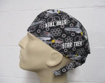 Star Trek Women/'s  bouffant Scrub Hat Scrub hat Scrub Cap Surgical Bouffant Hats Surgical cap Bouffant scrub hats Surgical Hat