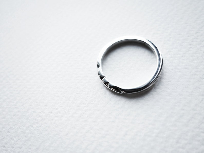 personalized Unique Silver Ring wedding band Silver Band Simple Silver Ring Dainty Ring Minimalist Couple Ring custom Unisex Ring