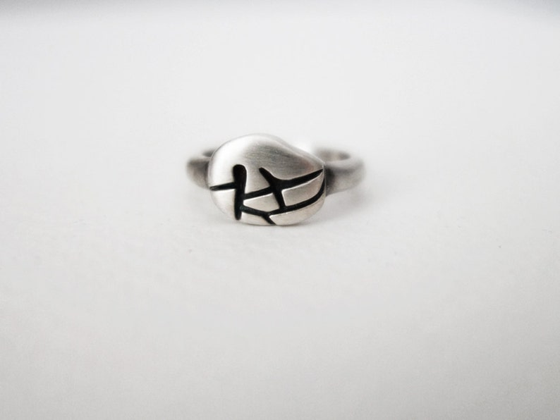 TREE Ring Minimalist Ring Good Luck Ring Silver Ring image 0