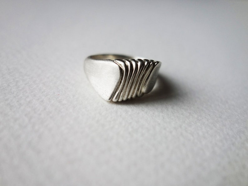 Handcrafted Ring Unique Silver Ring Silver Ring Statement image 0