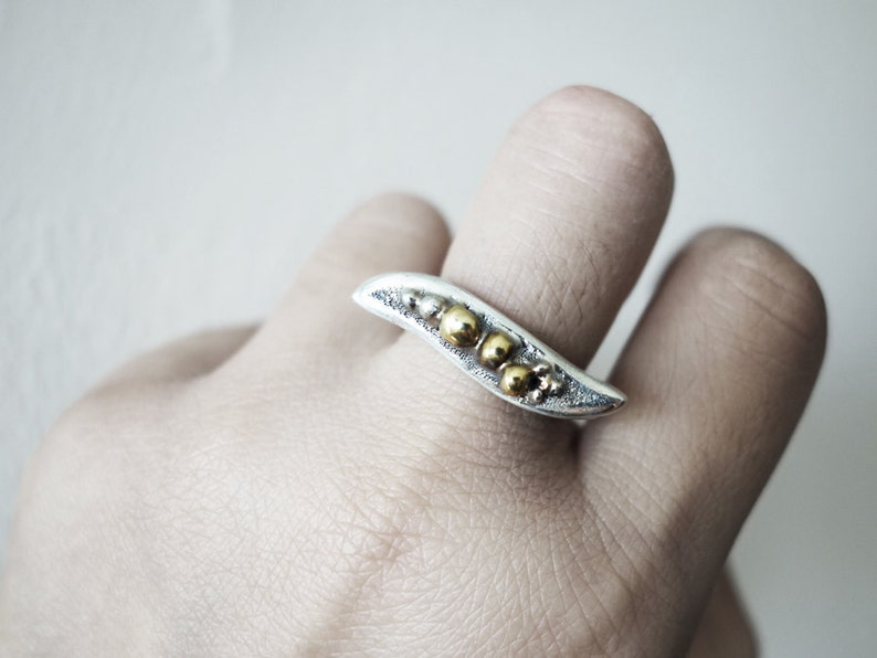 Unique Silver Ring Statement Ring Gift for her Cool Ring image 0