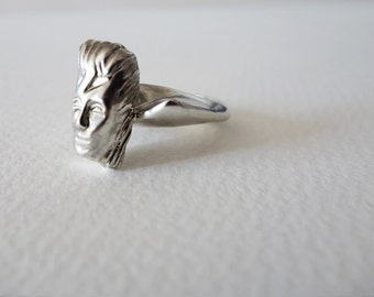 David Bowie Ring, Unique Silver Ring, Silver Ring, Statement Ring, Handcrafted Ring, Handmade ring, David Bowie Jewelry,Handmade Silver ring