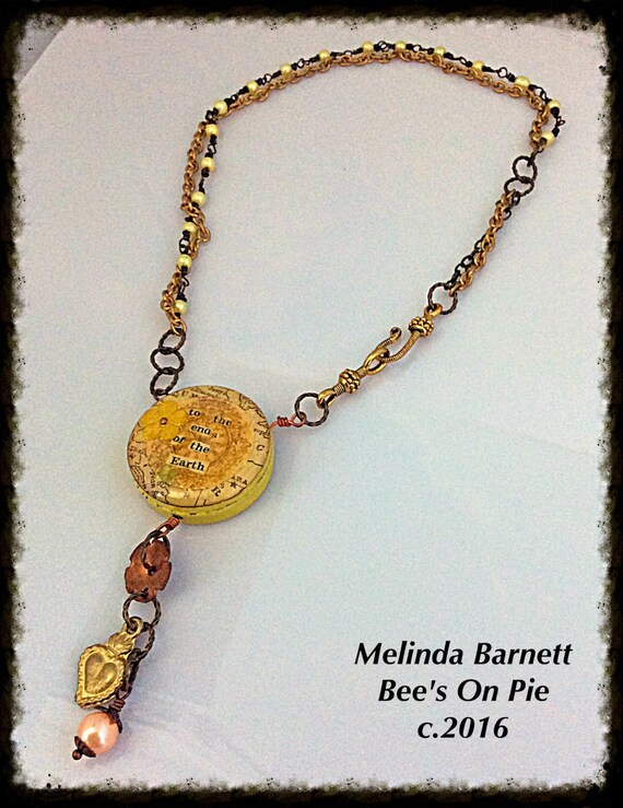 To The End Of Earth Necklace by #melindabarnett #queenebead