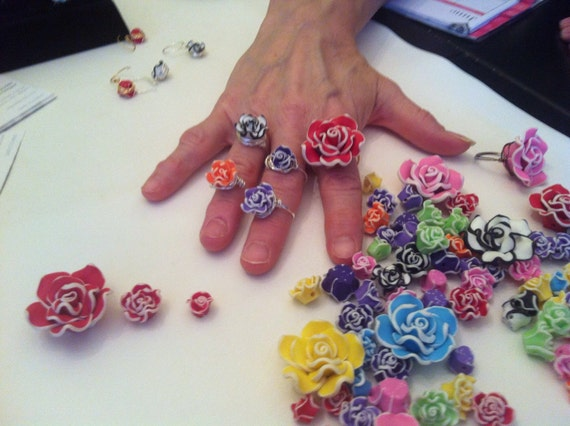 Cutest Polymer Flower Rings Ever!