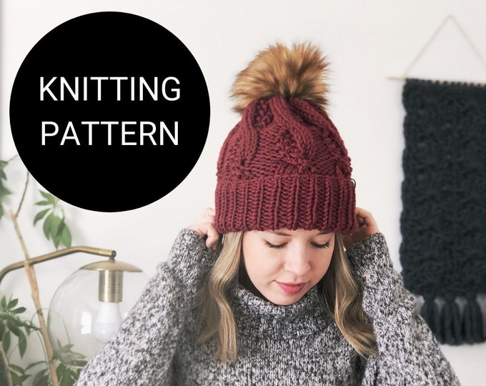 Featured listing image: The Pebbled Cable Beanie PATTERN / PDF Download