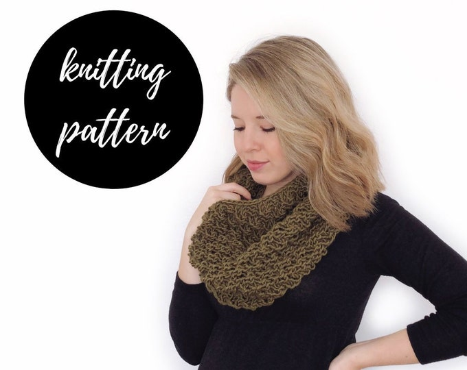 Featured listing image: The Madeline Cowl Knitting PATTERN / PDF Download