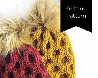 Oh Honey Beanie Knitting PATTERN
