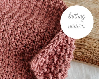 Redbud Knit Dishcloth PATTERN / PDF Download