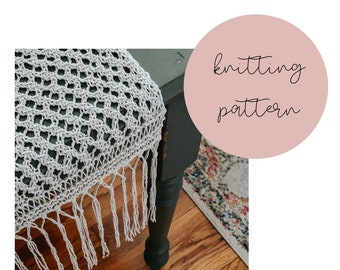 The Marcie Table Runner Knitting PATTERN / PDF Download