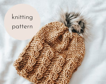 The Camille Beanie Knitting Pattern / PDF Download